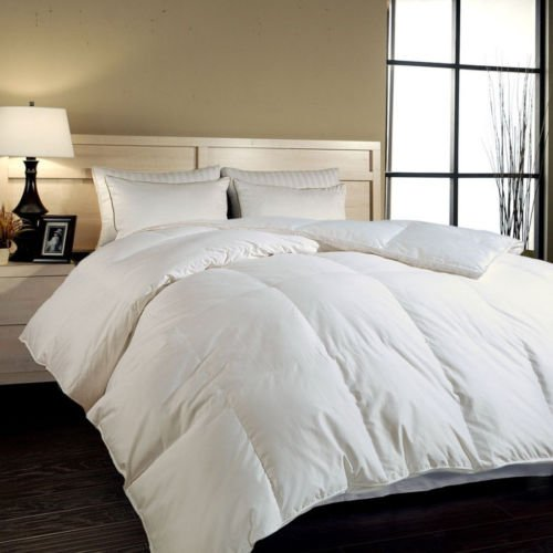 Luxurious White 75% Duck Down and 25% Duck Feather Comforter Duvet Insert 233 TC Cotton Cover King Size 94 x 90 inch ,700+ Filling Power (Organic Duvet Insert King compare prices)