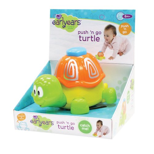Earlyears Push 'n Go Turtle Toy (Discontinued by Manufacturer)