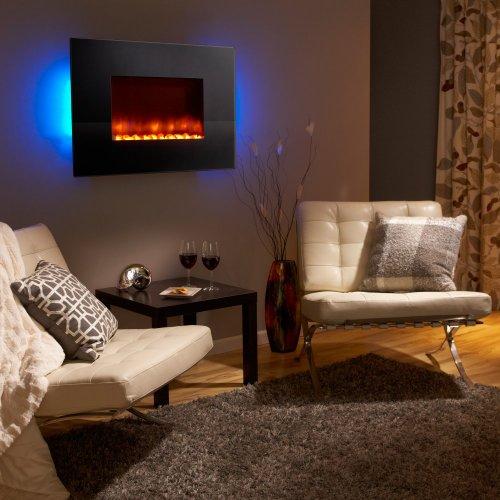 Simplifire Modern 36 in. Linear Wall Mount Electric Fireplace - Black picture B00FRLDKMM.jpg