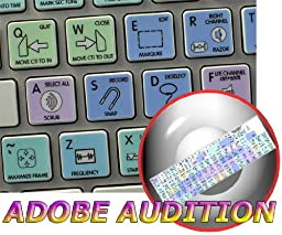 ADOBE AUDITION GALAXY SERIES NEW KEYBOARD STICKERS SHORTCUTS APPLE SIZE