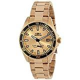 Reloj Invicta 15138SYB Pro Diver para mujer, de acero inoxidable, Dial chapado en oro de 18k con estuche a prueba de impacto.