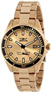 Invicta Womens 15138SYB Pro Diver Gold Dial 18k Ion-Plated