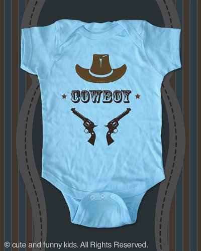 Cowboy  a Hat and Guns baby onesie infant clothing