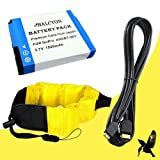 Halcyon 1500 mAH Lithium Ion Replacement Battery + Mini HDMI Cable + Waterproof Floating Strap for GoPro HD Hero, HD Hero2, HD HERO Naked