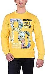 UCC Men's Fleece Regular Fit Sweatshirts (UCC7014YELLOW-L)