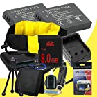 TWO LI-50B Lithium Ion Replacement Batteries w/Charger + 8GB SDHC Memory Card + Memory Card Reader/Wallet + Deluxe Starter Kit and Waterproof Floating Strap for Olympus Stylus Tough TG-610, Tough TG-810, Tough 6000, Tough 6020, Tough 8000, Tough 8010 DavisMAX Accessory Bundle