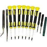 Tool Repair Kit Precision Screw Driver Set Torx + Flat Head + Safe Plying Prying Pry Tool for Motorola Verizon Sprint ATT Cingular Razor and More (Color: Black and Yellow, Tamaño: Tools)