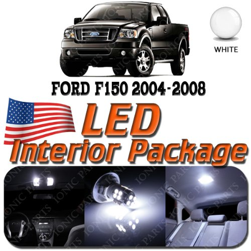 Super White 7 Light Bulbs Led Smd Interior Package - Ford F150 (2 Door Only) 2004-2008