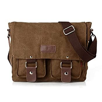 Ibagbar Men's Vintage Canvas Shoulder Messenger Bag