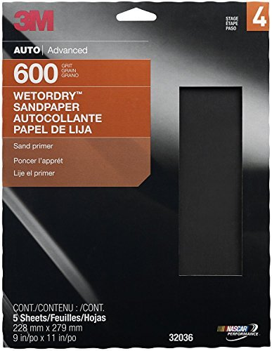 3M 32036 Imperial Wetordry 9x11-Inch P600 Grit Sheet, Pack of 5 Size: 600 Grit, Model: 32036, Car & Vehicle Accessories / Parts (3m Imperial 600 Grit compare prices)