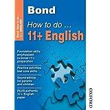 Bond How To Do 11+ Englishby Elisabeth Heesom