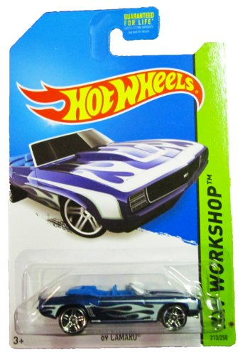 Hot Wheels - 2014 HW Workshop - 213/250 Heat Fleet - '69 Camaro (metallic blue)