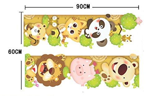 Ufengke cartone animato gatto leone panda adesivi murali