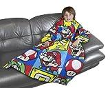 Character World Nintendo Mario Brothers Sleeved Fleece Blanket, Multi-Color