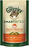 FELINE GREENIES SMARTBITES Healthy Skin and Fur Treats for Cats Chicken Flavor - 2.1 oz.