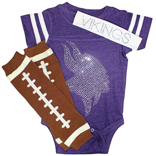 Clear Rhinestone Vikings Purple Sport Outfit 6mo (Viking Outfit)