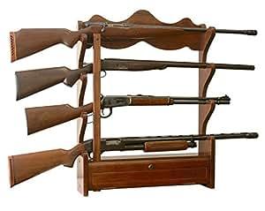 Amazoncom NEW Wooden Wall MountHung Gun Storage