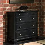 Home Styles 5531-41 Bedford Four Drawer Chest, Black Finish