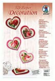URSUS 21850099-Kit de manualidades para 3d Paper Decoration Corazones, multicolor