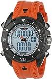 Timex Men's T5K4039J Ironman 42-Lap Dual-Tech Analog-Digital Orange Resin Strap Watch