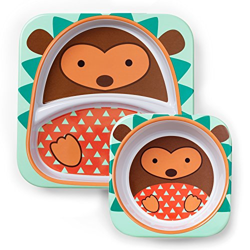 Skip Hop Zoo Melamine Plate and Bowl Set