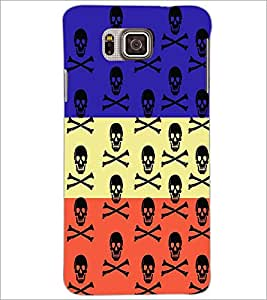PrintDhaba Skull D-3228 Back Case Cover for SAMSUNG GALAXY ALPHA (Multi-Coloured)