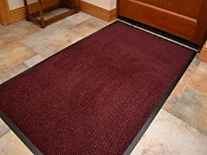 Tappeto per ingresso corridoio colore rosso pesante 90cm x - Amazon tappeti ingresso ...