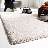 Ex-Large Medium Small Thick Plain Soft Shaggy Rug Non Shed Pile Modern Rugs Cream/Ivory Size: 80 x 150cm Best on Amazon from FunkyBuys®