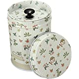 9cm Colorful Set Coffee Tea Sugar Canisters Kitchen Double Cover Food Storage Tin - Beige, Standard