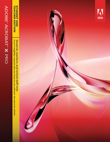 Adobe Acrobat X Professional Student & Teacher Edition for Mac  [Download]