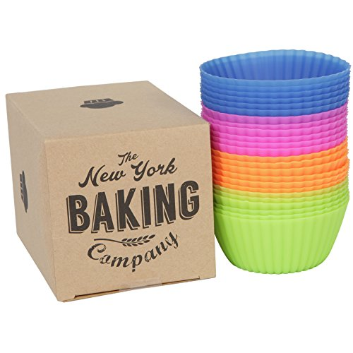 The New York Baking Company | 24-pack Reusable Silicone Baking Cups / Cupcake Liners