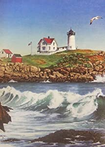 "The Harry Smith Collection - Set of 8 Blank Note/Greeting Cards: ""Nubble Lighthouse"" (Maine, U.S.A.)"