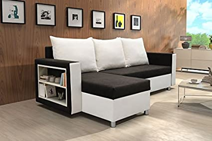 Price crackers: Corner Sofa Jola with Bed function Corner Couch Sofa Couch Shank exchangeable Sofa bed
