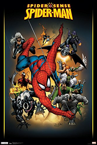 """Trends International RP5557 Spider-Man Adversaries Collector's Edition Wall Poster, 24"""" x 36"""""""