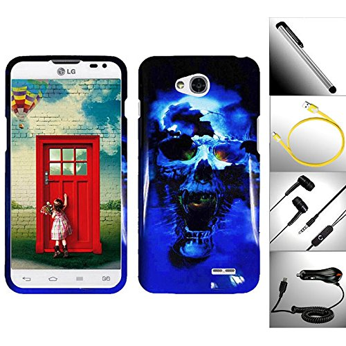 "Value Bundle / 5 In 1 For Lg Optimus L90 - 1 Incredible Lovely Artistic Design Snap-On Hard Case + 1 Car Charger + 1 Random Color Handsfree Headset 3.5Mm Stereo Earphone + 1 Garnet House 4""L Silver Stylus Touch Screen Pen & Bonus 3 Feet (1M) Tangle-Free F"
