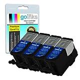 4 Black Compatible Printer Ink Cartridges to replace Kodak 30B (XL) for Kodak ESP 1.2, 3.2, 3.2S, C110, C310, C315, Office 2170, 2170 & Hero 3.1, 5.1