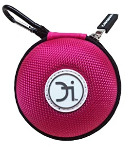 CASEBUDi Pink - Small case for your Earbuds, iPod Shuffle, iPod Nano, iPhone Charger, Coins, or small Bluetooth headset
