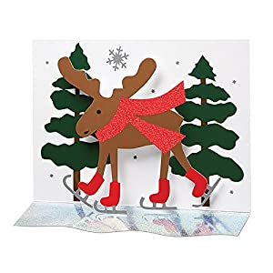 A+B Designs Moose in Forest 3-D Boxed Holiday Cards