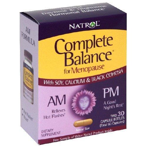 Natrol Complete Balance A.M. / P.m. Formule pour la ménopause, 60 Count