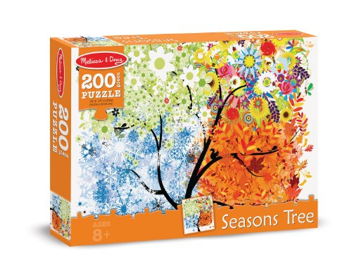 Melissa & Doug Seasons Tree Cardboard Jigsaw Puzzle, 200-Piece