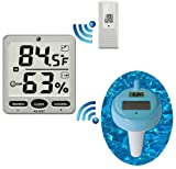 Ambient Weather WS-18 Wireless 8-Channel Floating Pool and Spa Thermometer with Remote Thermo-Hygrometer