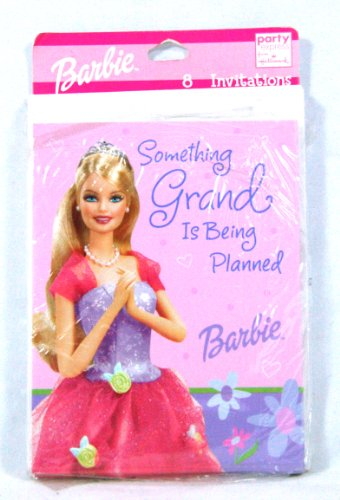 Rare! Vintage! Barbie Princess Birthday Party Supply 8 Pk Party Invitations Hallmark by Party Express Birthday Party Supply