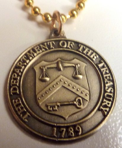 Department Of The Treasury Irs Seal Pendant Necklace W/Ball Chain