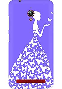 AMEZ designer printed 3d premium high quality back case cover for Asus Zenfone Go (very light purple white girl princess)