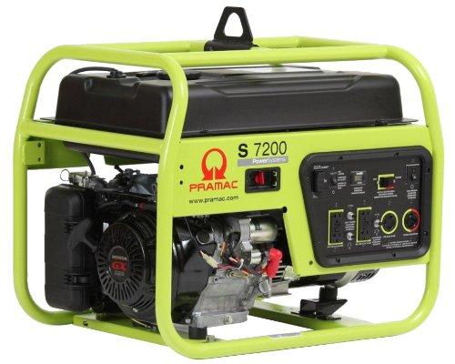 Pramac S7200 Portable Generator, 7200-Watt, Green