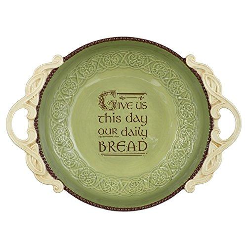 Grasslands Road Irish Celtic Knot Ceramic Tabletop Bread Bowl (Ceramic Bread Bowl compare prices)