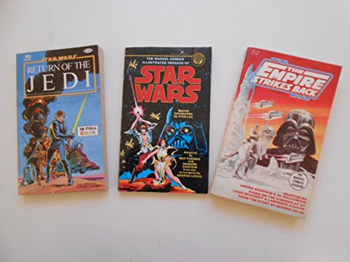 Star-Wars-Empire-Jedi-rare-vintage-three-original-pocket-books-lot-deal-1970s-80s