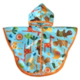 Satsuma Designs Baby and Toddler Poncho, Jungle Animal