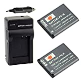 DSTE 2x D-Li88 Battery + DC89 Travel and Car Charger Adapter for Pentax Optio H90 P70 P80 W90 WS80 Camera as DB-L80 VW-VBX070