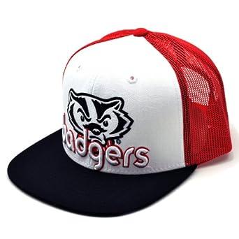 NCAA Wisconsin Badgers Men's Word Up Adjustable Snapback Cap (White, One Size)